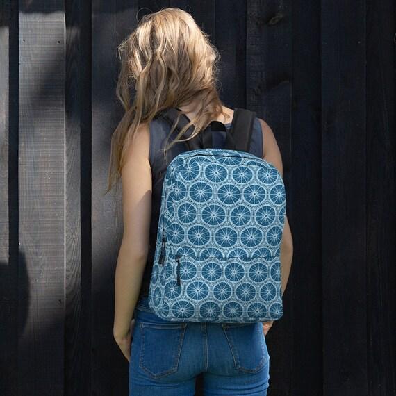 Blue Batik Style Boho Backpack
