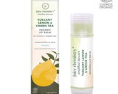 Tuscany Lemon Green Tea Organic Lip Balm - For Tanned And Chapped Lips - 5gm 0.17oz