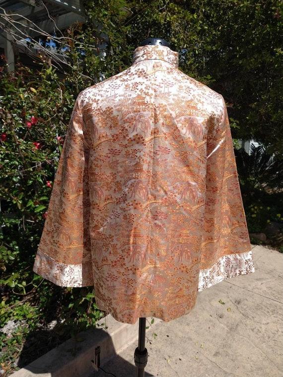 Vintage Chinese toile brocade silk coat - image 6