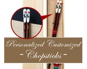 Japan Personalized Made in Japan Chopsticks with rest - ISSOU Set of 1 pair of Chopsticks and a chopstick rest (Lucky Cat)
