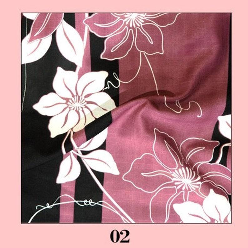 Wine Flower Japan Yukata Kimono Free Size Top and Bottom Seperate Yukata without Obi Designed in Japan