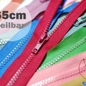 divisible grey 2-way zipper 65 cm