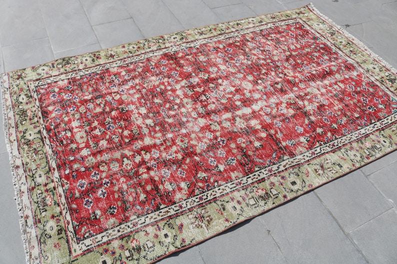 4.6x7.7 ft Vintage Rug Oriental Rug Antique Rug,Organic Rug Bedroom Rug Area Rug Decor Rug,Handmade Rug Oushak Rug Turkish Rug 2761