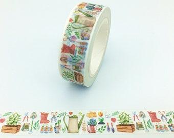 Gardening, Washi Tape, Scrapbooking Tape, 10m Full Roll Washi Tape
