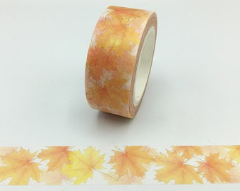 Washi Tape, 10m Full Roll, Maple Leaves, Scrapbooking Tape
