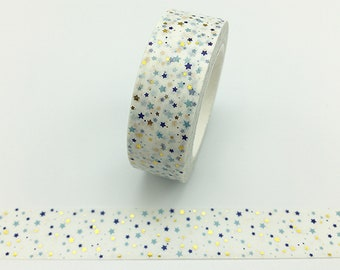 Craft Tape Washi Tape Scrapbooking Tape Diamond Watermark on Blue