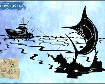 Download Sea Fishing Svg Etsy