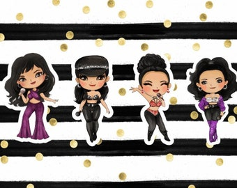 SELENA QUINTANILLA stickers or cupcake toppers