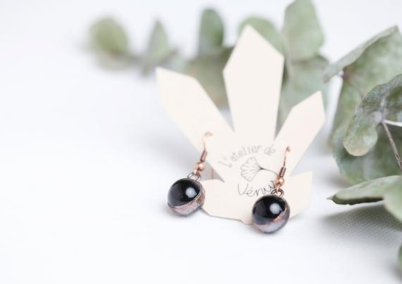 Obsidian Celestial Eye Earrings // Natural Stones