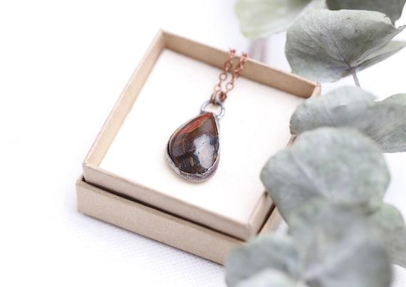 Copper Iron Eye Collar // Iron Eye // Nature-inspired Jewelry - boho