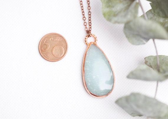 Amazonite copper necklace // natural stone jewelry - boho inspiration