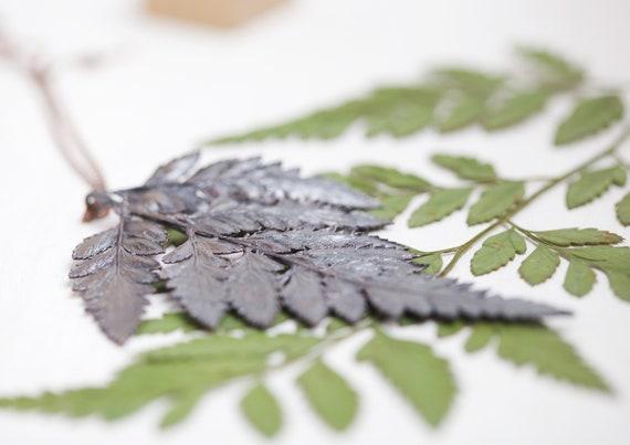 Fern necklace - real leaf pendant // leaf jewelry // copper jewel
