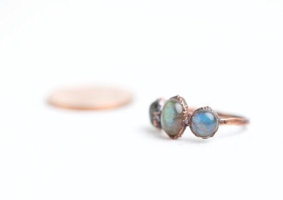 Labradorite ring natural stones - natural stone jewel