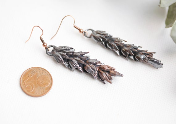 Real ears of patinated copper wheat - Nature Inspiration - bohemian
