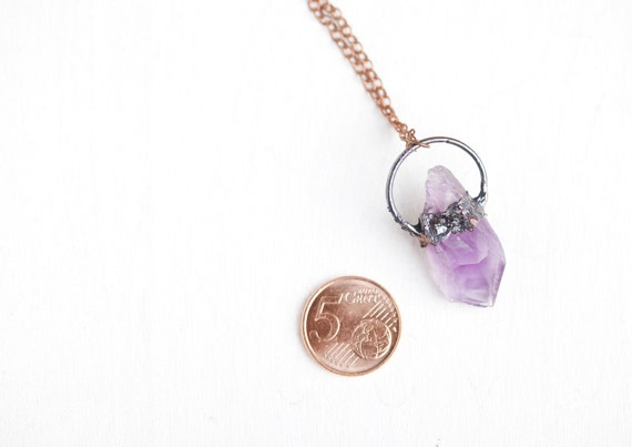 Amethyst necklace - Natural stone necklace Amethyst / Amethyst pendant