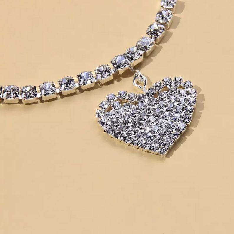 Heart-shaped Jewelry Women/'s Ankle Bracelet Beautiful Anklet Rock crystal Rhinestones
