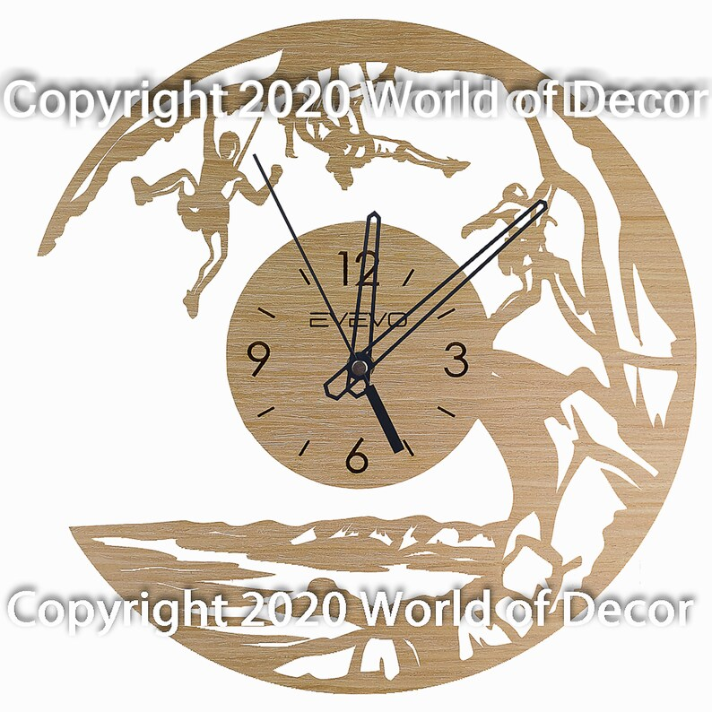 Escalade Wood Wall Clock Wooden Clock Natural Wood Clock Wooden wall Clock Unique Wall Clock Custom Designed