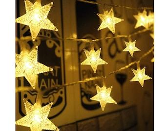Star Lights Garland Etsy