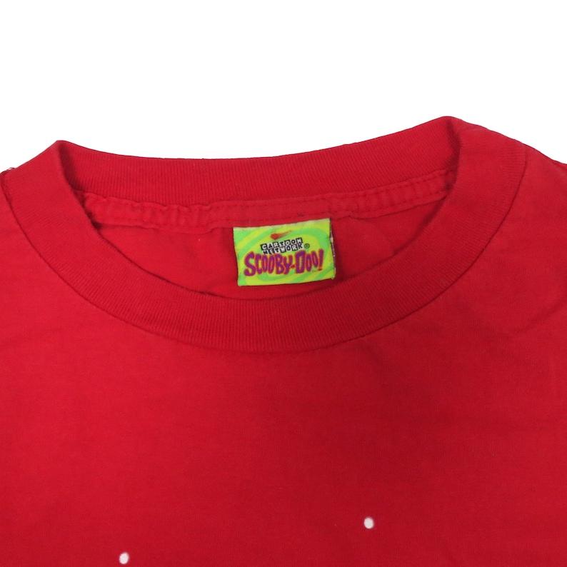 Vintage 90s  SCOOBY DOO  Skiing  Hanna-Barbera  XXL Size T-Shirt  Short Sleeve  Crew Neckline  Cartoon Network  Christmas