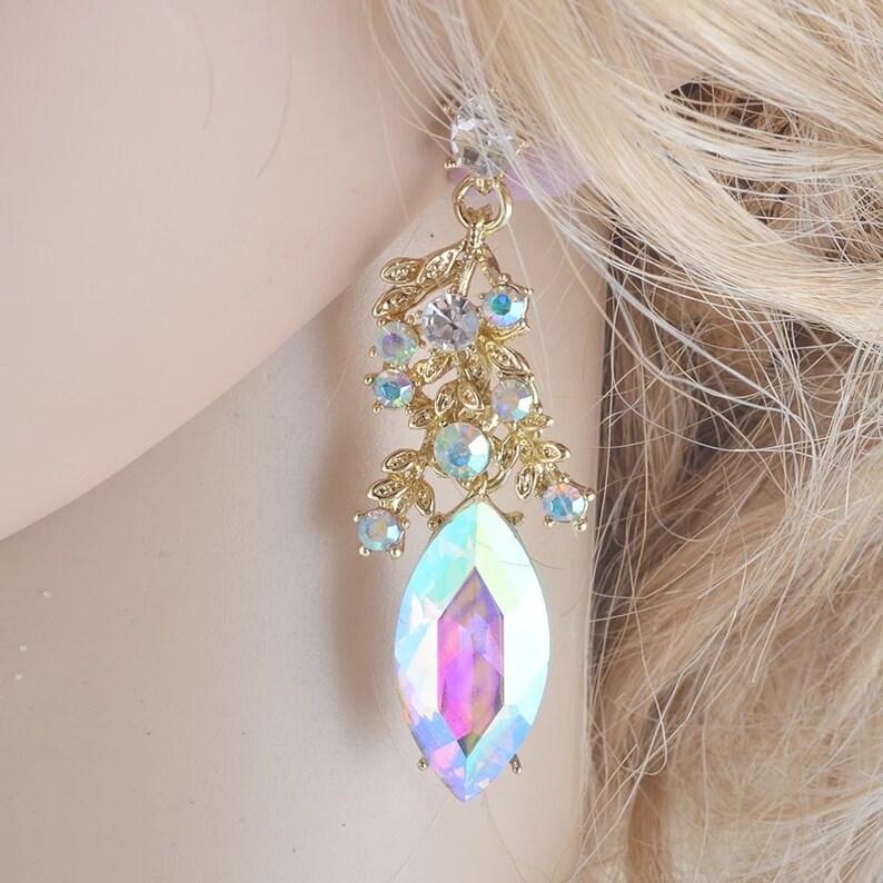 Rose Gold Teardrop Wedding Earrings Camilla Rose Gold Jewelry Set,wedding gift Bridal Necklace Set tear drop pear cubic zirconia earrings