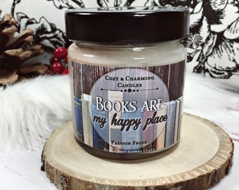Books are my happy place   Bookcandle   Bookish Candle   Scented Candle   Scented candle