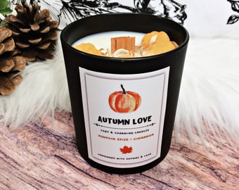 Autumn Love Candle   Autumn Candle   Scented Candle   Duftkerze   Pumpkin Candle