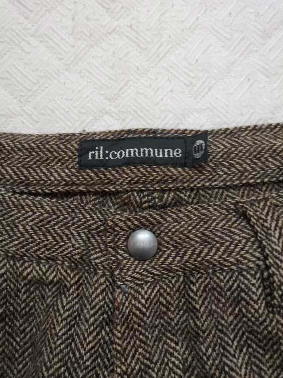 Vintage 90s RIL COMMUNE Stright cut trousers casu… - image 3