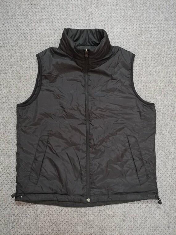 Vintage 90s UNIQLO sleeveless reversible jacket bl