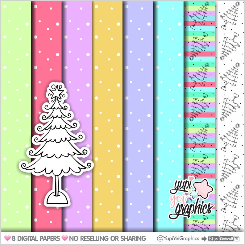 Scrapbook Christmas Patterns COMMERCIAL USE Digital Scrapbook Paper Dots Digital Papers Christmas Digital Papers Christmas Background