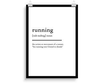 running definition print, running definition poster