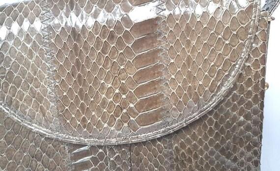 Vintage shoulder bag bag bag snakeskin bag snakes… - image 5