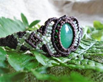 Bracelet Macramé - Chrysoprase