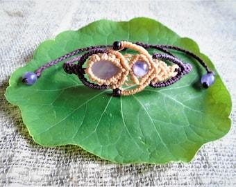 Macramé bracelet - Amethyst
