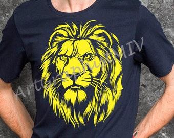 Svg, Cricut svg, Png, T-shirt design, Vector image, Animal clipart, Lion print, Lion svg, Lion png, Lion vector, Lion clipart
