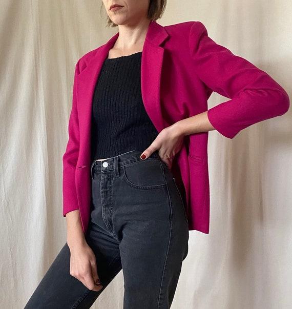 Vintage 1980s Savannah Petites pink single-button… - image 4