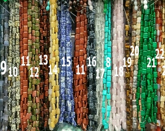 10mm or 14mm PillowSquare Gemstone Beads Serpentine A Grade Natural New Jade