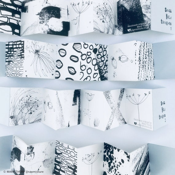 SMALL WILD THOUGHTS 1 & 2: handmade concertina books