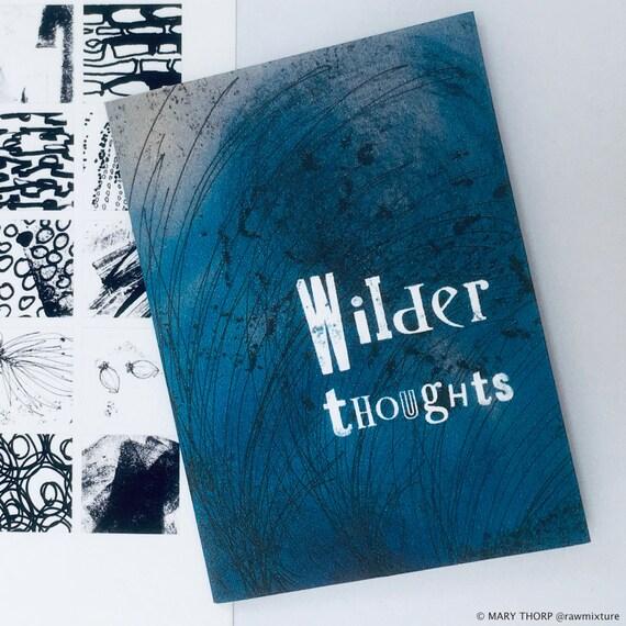 WILDER THOUGHTS: handmade folded book & postcard