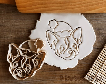 Chihuahua Mexico Christmas Hat Dog Doggy Pet Animal Cookie Cutter Pastry Fondant Dough Biscuit