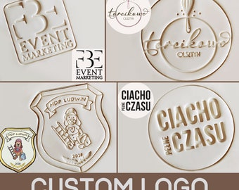 Custom LOGO SIGN Gift Personalized Business Cookie Cutter Pastry Fondant Dough Biscuit