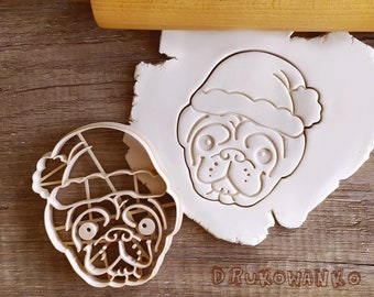 Pug Puggy Dog Cookie Cutter Pastry Fondant Dough Biscuit