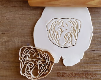 Bulldog Bull Dog Pet Animal Home Friend Cookie Cutter Pastry Fondant Dough Biscuit