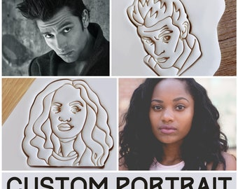 Custom Portrait Gift Personalized Face Cookie Cutter Pastry Fondant Dough Biscuit