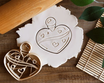 Love Potion Magic Magical Flask Cookie Cutter Pastry Fondant Dough Biscuit