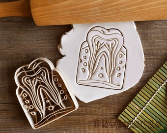Tooth Teeth Jaw Dentist Gum Cross-Section Medicine Body Cookie Cutter Pastry Fondant Dough Biscuit