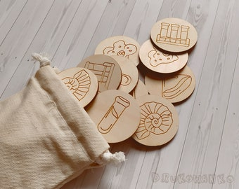 Science 13 pairs Laboratory Fluids Wooden Memory Game Matching Little Kid Toddler Educational Learning Montessori Homeschooling Children