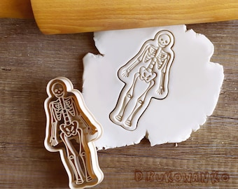 Human Skeleton Medicine Body X ray Bones Muscles Structures Radiation Scan Cookie Cutter Pastry Fondant Dough Biscuit