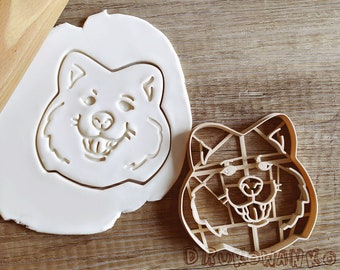 Samoyed Dog Cookie Cutter Pastry Fondant Dough Biscuit