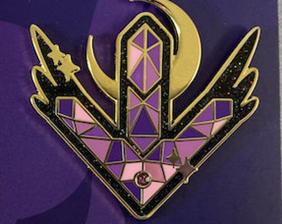Valkyrie of Darkness Hard Enamel Glitter Pin