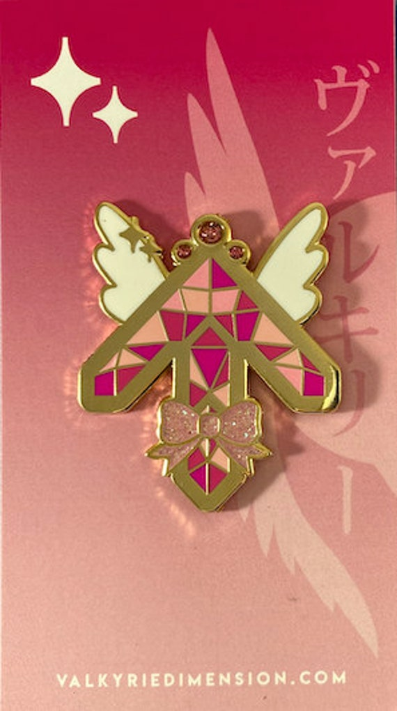 Valkyrie of Light Hard Enamel Glitter Pin